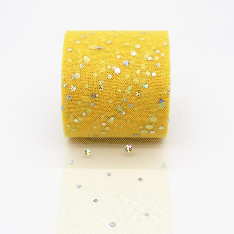 25 ярдов/рулон 6,5 см блеск рулон тюля с блестками Свадебные украшения кружева, тюль, платье-пачка «сделай сам» из органзы Baby Shower вечерние поставки - Цвет: AQ13