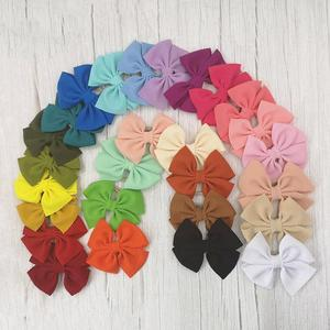 Image 2 - 30Pcs Small Bow Headband Baby Girls Hair Accessories Photo Props Lovely Pirincess Gift Nylon Hair Ties Toddler BowKnot Hair Band