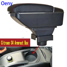 Center Centre Console Storage Box For C4 Hatchback 2004-2010 Armrest Arm Rest Rotatable 2005 2006 2007 2008 2009