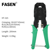 RJ45 RJ11 RJ12 Cat 5/5e Network LAN Cable Crimping Pliers Hand Tool For 4P 6P 8P 4p 6p 8p telecom crimping tool 190mm plastic steel cable network crystal head crimping pliers