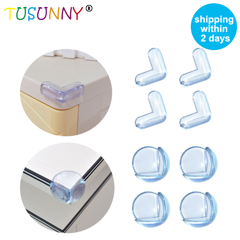 TUSUNNY 10Pcs Child Baby Safety Silicone Protector Table Corner Edge Protection Cover Children Anticollision Edge & Guards