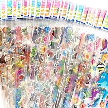 12 Sheets/Pack Cute Bulk 3D Puffy Stickers for Kids Scrapbooking Laptop Mobile Phone Decoration Girl Boy Birthday Gift