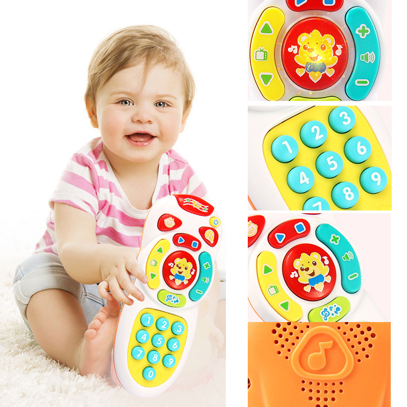 Baby Simulation TV Remote Control Mobile Phone Toy Kids Educational Music Learning Toy Funny Gift