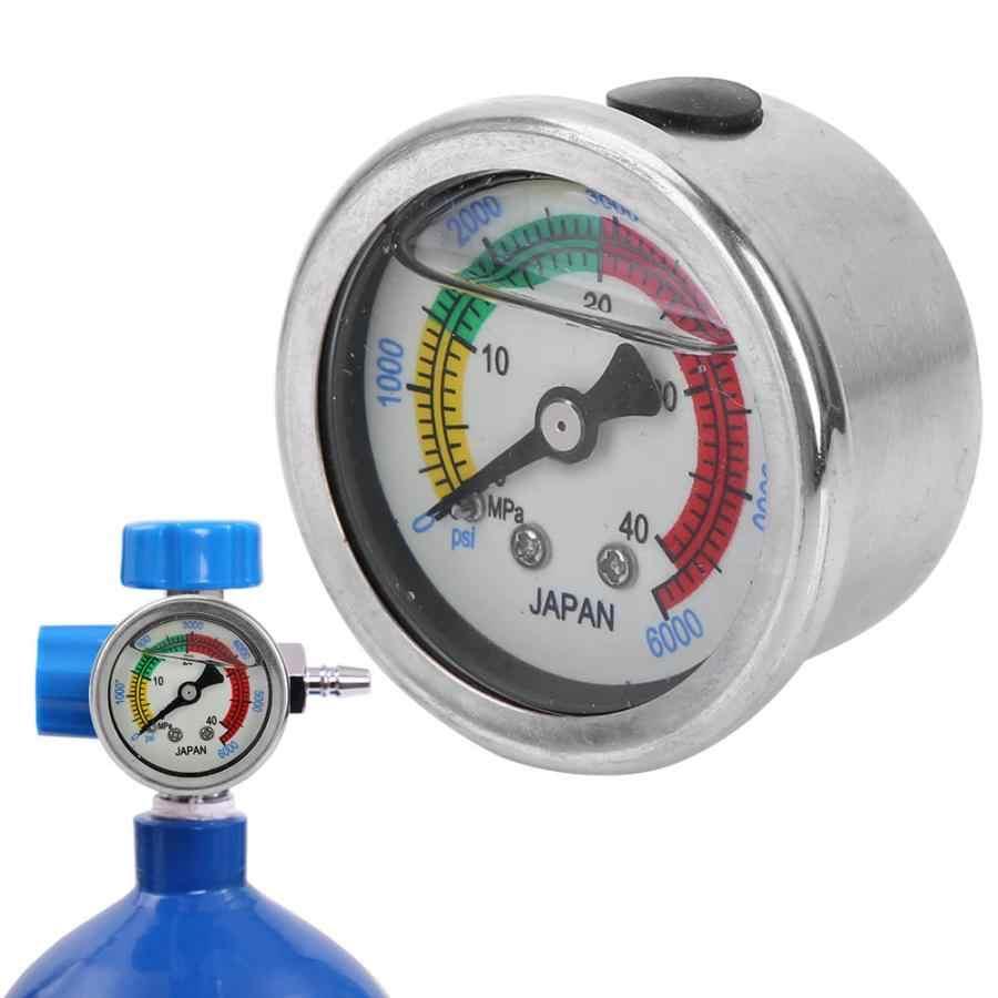 0-6000PSI miernik ciśnienia w 0-40MPa pompa powietrza miernik ciśnienia do nurkowania sprzęt manometr środek do nurkowania sprzęt manometr
