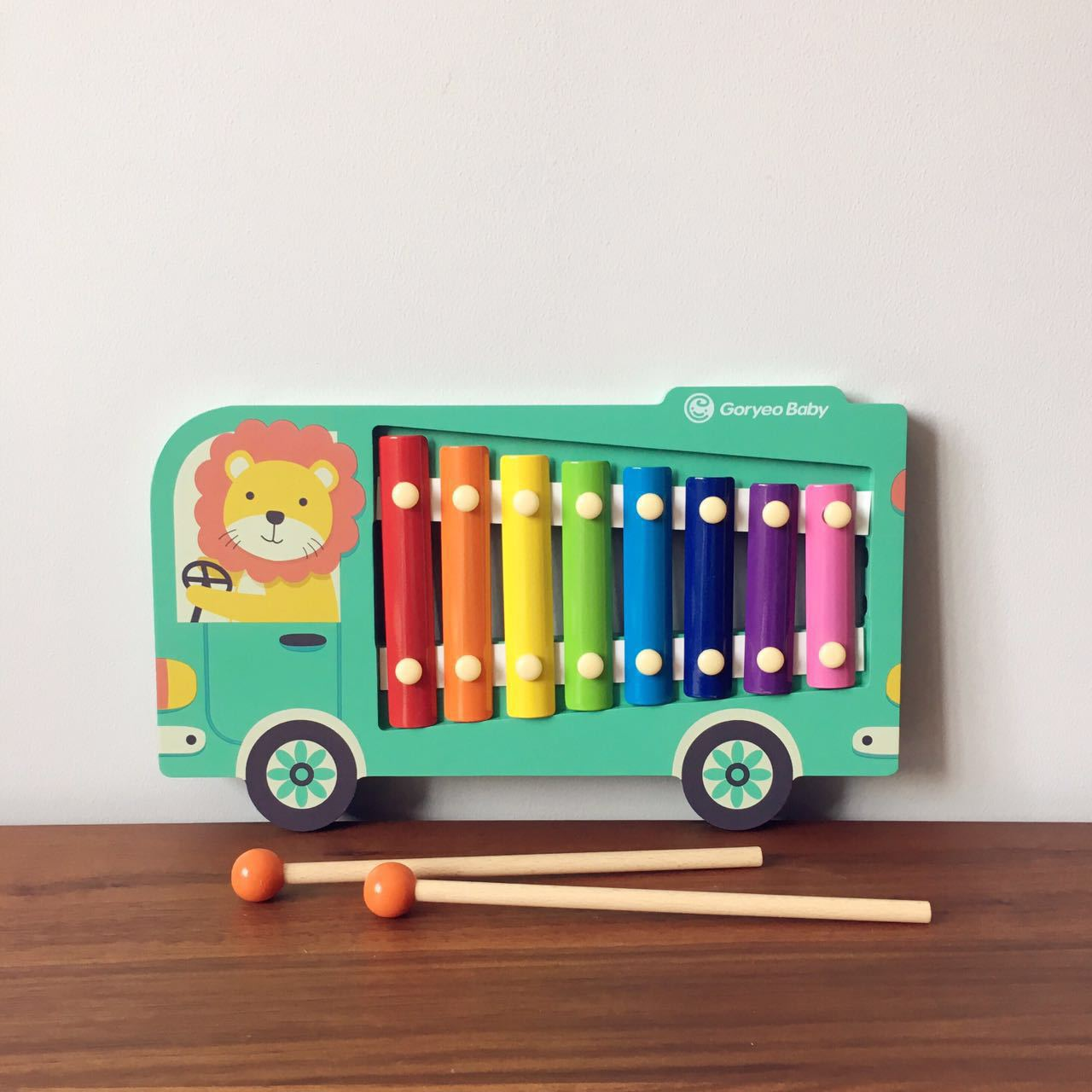 South Korea Music Knock Piano Infants Music Baby Toy Wooden Hand Knock Octave Knock Piano 0-1-2-Year-Old-3 A Year Of Age