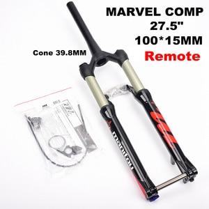 Image 3 - Manitou MARVEL Comp 100*15mm 27.5er 27.5inche Bicycle Fork Mountain MTB Bike Fork Front suspension  Manual remote control