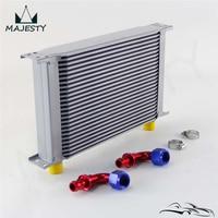25 linha an10 universal alumínio transmissão do motor 248mm refrigerador de óleo tipo britânico com acessórios kit prata