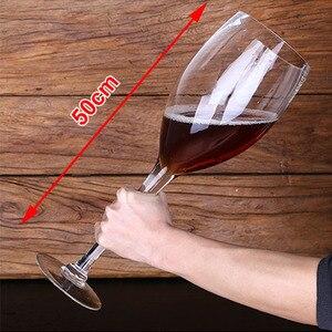 Criativo super grande copo de champanhe hanap copo de taça de vinho tinto ktv grande capacidade de cristal sem chumbo caneca de cerveja copos bebendo