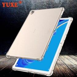 Housse pour Huawei MediaPad T3 7.0 8.0 9.6 T5 10 10.1 pouces étui pour tablette en silicone Transparent mince Airbag housse Anti-chute