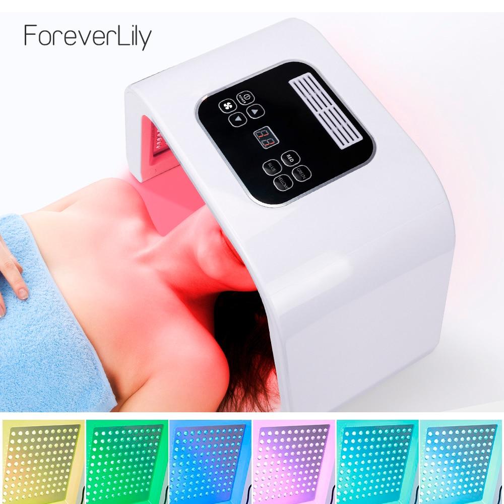 7 Colors PDF Led Light Therapy LED Mask Skin Rejuvenation Photon Device Spa Acne Remover Anti-Wrinkle Red Led Light Treatment
