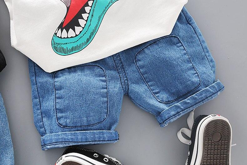 dos desenhos animados verão crianças roupas dinossauros