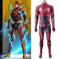 2020 nuevo diseño Flash, Barry Allen, juego de rol disfraz Zentai traje de superhéroe adulto chico traje de batalla monos máscara de