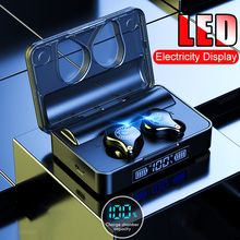 Беспроводной Bluetooth наушники с 3600 мАч зарядный чехол Водонепроницаемый сенсорный Управление наушники-вкладыши TWS Bluetooth 5,0 наушники для iPhone samsung