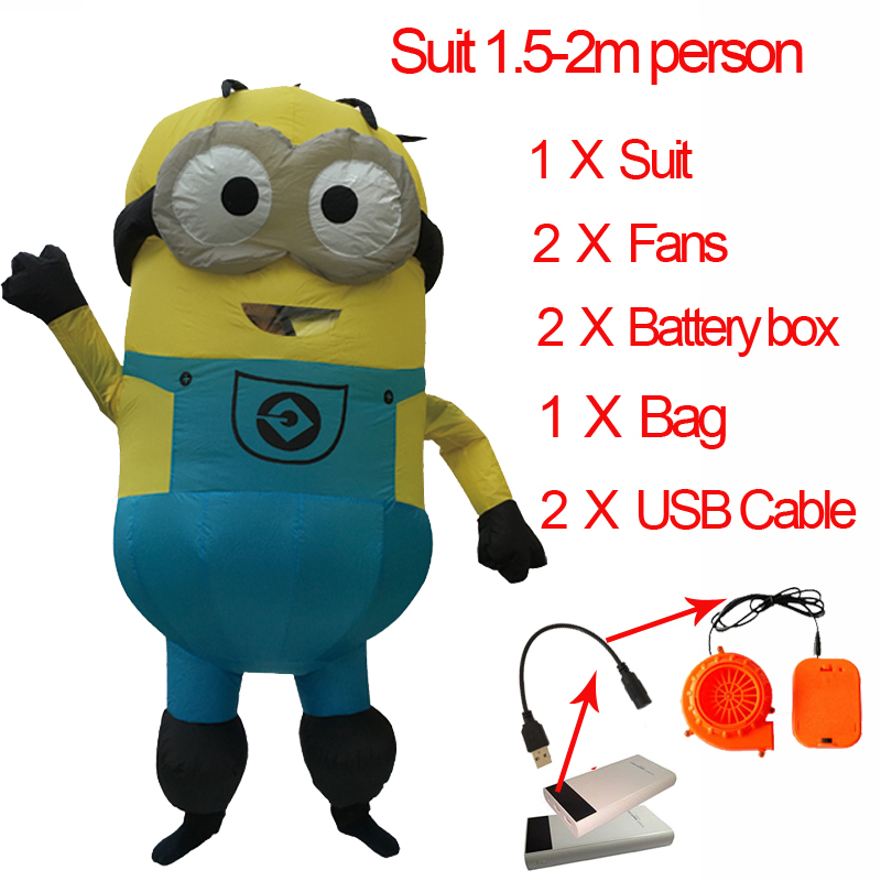 Adult Minion Costume Inflatable Minion Baymax Anime Cosplay Pikachu Mascot Fancy Dress Halloween Minion Costume For