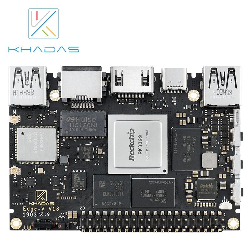 New Khadas SBC Edge-V Basic RK3399 With 2G DDR4 + 16GB EMMC5.1 Mouldboard