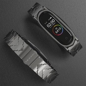 Für Xiao mi mi Band 4 Strap Metall Rostfreiem Stahl mi Band 3 Strap Kompatibel Armband Armbänder Pulseira mi band3 correa Neue Stil