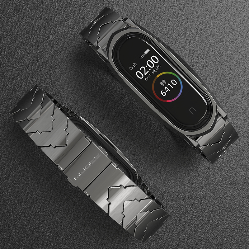 Mi Band 5 Strap For Xiaomi Mi Band 4 3 NFC Strap Bracelet Metal Stainless Steel Global Version Compatible Wristbands Correa image