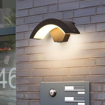 AC85-265V kinkiet PIR Motion Sensor nowoczesna lampa ścienna LED odporna na wilgoć ganek oprawa IP65 wodoodporne oświetlenie ogrodowe domu tanie i dobre opinie XUNATA Oświetlenie uliczne 85-265 v Brak bathroom light 33 Aluminium Awaryjne Żarówki led Nowoczesne outdoor waterproof wall light