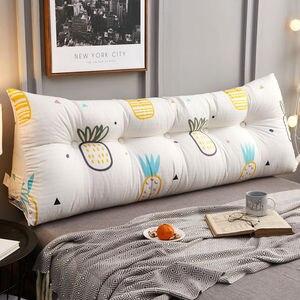 Cojín Triangular para mesita de noche, doble respaldo, bolsa suave tatami para dormitorio, almohada coreana para cama, cojín largo para sofá, almohada