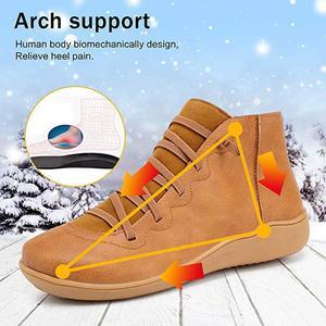 Image 3 - Botines de piel sintética para mujer, botas con cordones y correa cruzada, para primavera y otoño, WJ003