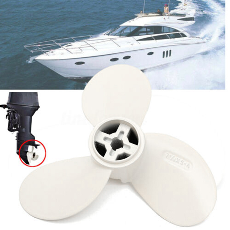 White Boat Propeller 7 1/4X5-A Aluminum Alloy Marine Outboard Motor Fit For 2HP