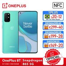 Rom global oneplus 8 t 8 t oneplus loja oficial 8gb 128gb snapdragon 865 5g smartphone 120hz amoled tela fluida 48mp quad 65w