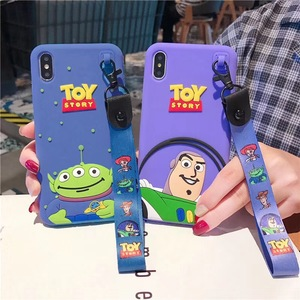 3D Cartoon Anime Toy Story Buzz Lightyear case For iphone 11 pro X Xs MAX 6 s 7 8 plus Cute Three Eyes Alien silicone soft cover(China)
