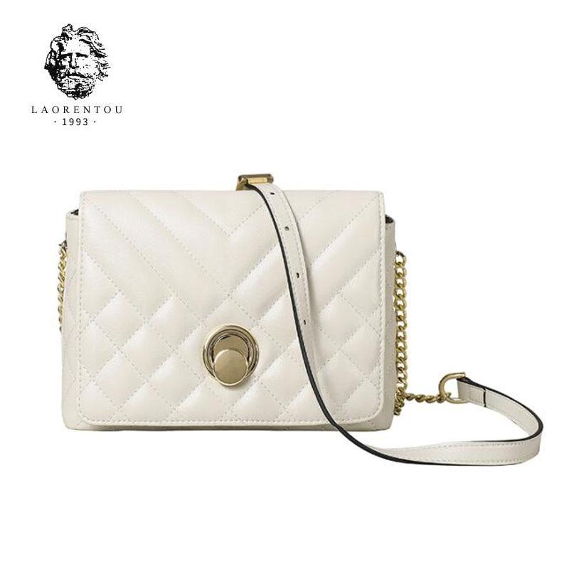 LAORENTOU hohe qualität mode luxus marke weibliche neue 2019 mode trend leder handtaschen schulter Messenger tasche net rot kette