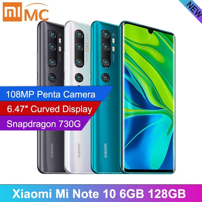 В наличии, глобальная версия xiaomi mi Note 10, 6 ГБ, 128 ГБ, 6,47 дюйма, изогнутый дисплей, камера 108 МП, мобильный телефон Snapdragon 730G Смартфоны и мобильные телефоны    - AliExpress