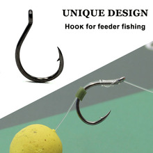 20PCS Carp Fishing Hook for Method Feeder Fishing TackleBarbed Eyed Feeder Fishing Hooks for Carp Hair Rig cheap Dongbory CN(Origin) Short curved shank High Carbon Steel Barbed Hook LAKE Micro Barb Strong forged 6 8 10 12 Carp Barbel Tench Coarse Fishing