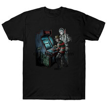 Freddy Vs Jason Arcade cauchemar officiel de Elm Street noir hommes t-shirt(China)