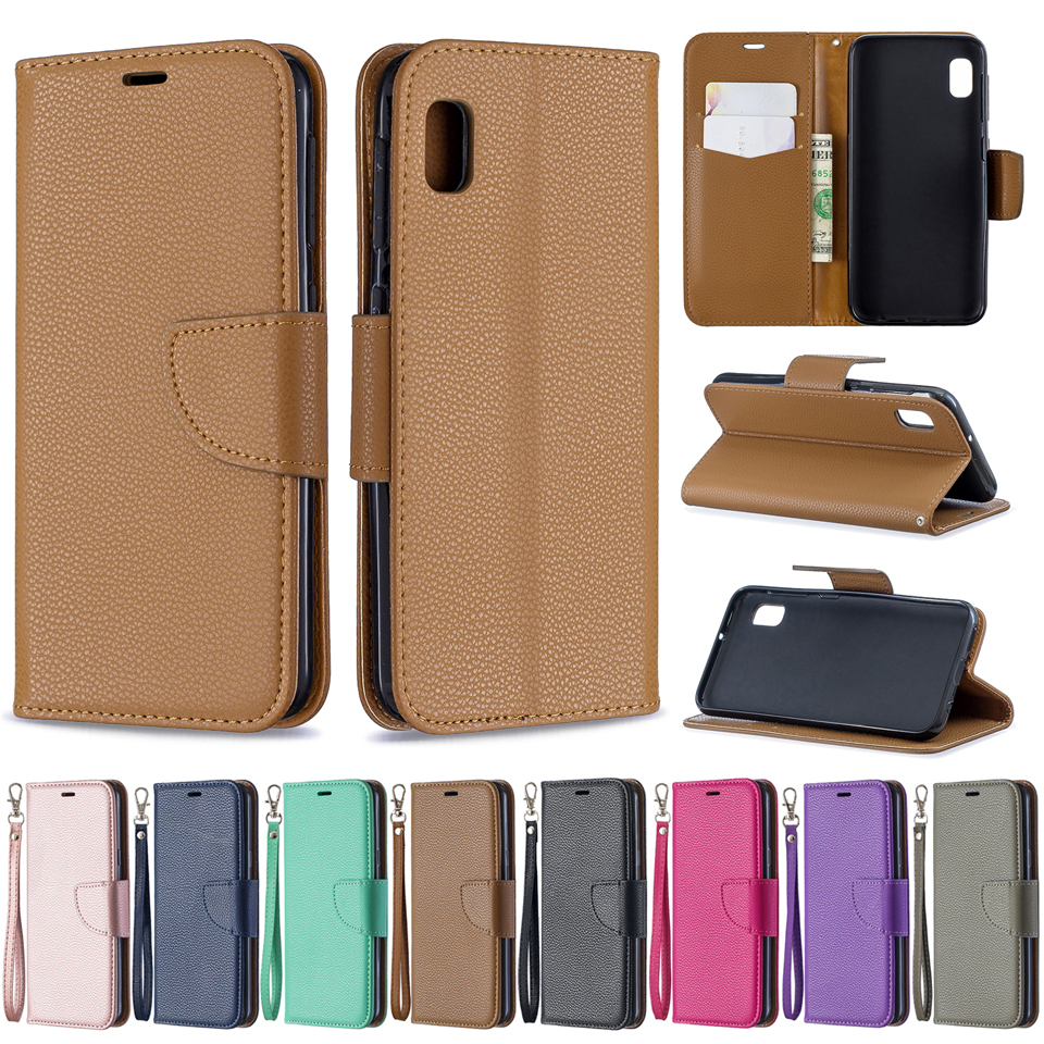 Lychee Texture PU Leather Flip Wallet Case Mobile Phone Bag Back Cover Skin Coque Funda Capa for HUAWEI Y5 Y6 Y7 2018 2019 Prime in Flip Cases from Cellphones Telecommunications