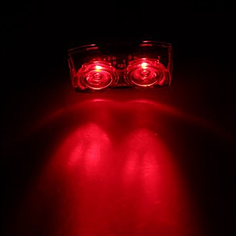2Led Owl Eyes Super Bright Bicycle Tail Lights Mountain Bike Warning Lights Cycling Equipment Accessories