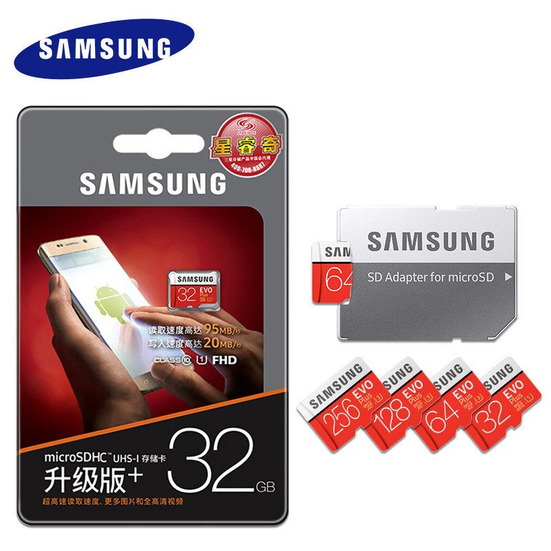 Image 2 - Original Samsung EVO 32GB 64GB 128GB SDHC mini Carte Memoire C10 64GB SDXC U3 Cartao SD safe for Smartphone Memory Flash drive-in Micro SD Cards from Computer & Office