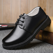 black leather school shoes for boys lace up dress s