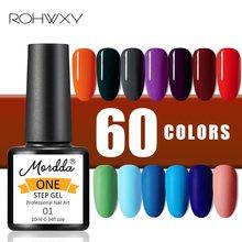 Rohwxy 10 ml uma etapa para unhas arte design gel uv para unhas manicure colorido embeber fora gel unha polonês para ferramentas de pintura de unhas
