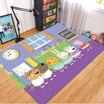 Peppa Pig Anti-slip Flannel Mat Peppa Door Mat Kid Room 3D Cartoon Floor Mat Washable Kitchen Bathroom Carpet Christmas Gift 10