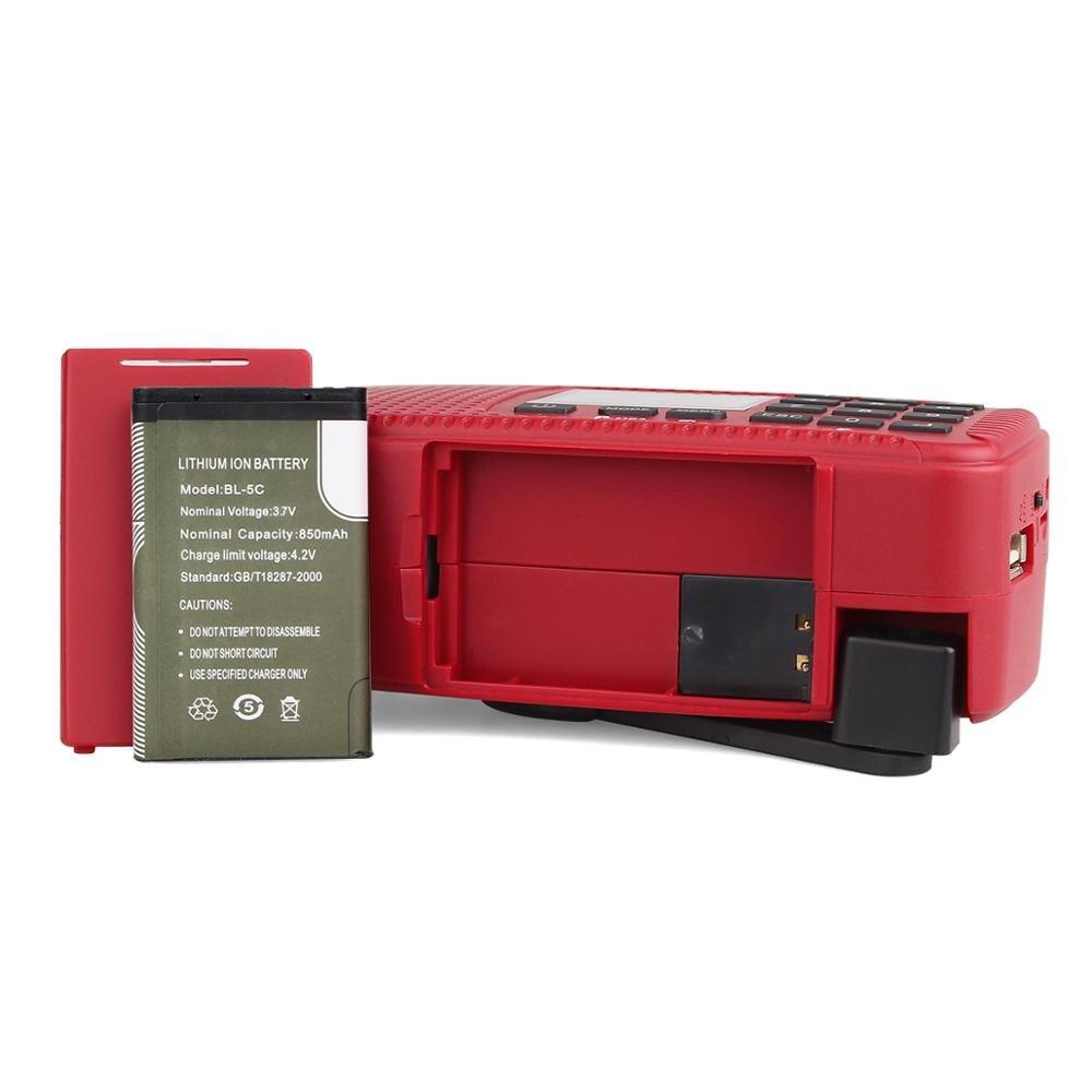 Retekess HR11W FM/AM NOAA погодное аварийное радио Ручной Солнечный радио Bluetooth MP3 плеер цифровой рекордер портативный F9208C - 5