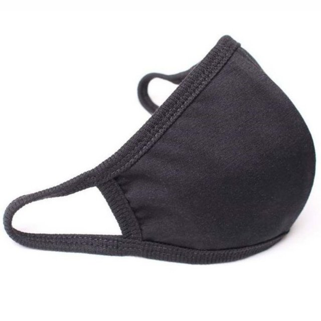 Unisex Mouth Mask Adjustable Anti Dust Face Mouth Mask,Black Cotton Face Mask For Cycling Camping Travel 2