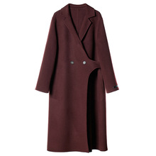 Star Double-faced Wool Overcoat Pure Wool Overcoat Autumn Loose Version Cashmere Women 2019 Long Turn-down Collar Women Coats цена