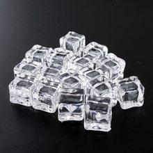 16 pçs falso cubos de gelo reutilizável artificial claro acrílico cubos de cristal uísque bebidas exibição fotografia adereços festa de casamento decoração