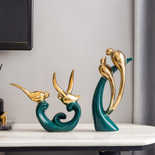 Ceramic Animal Sculpture Decoration Mascot Modern Home Decoration Living Room Office Decor Feng Shui Gifts Turquoise Home Decor