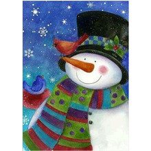 Diamond Embroidery Snowman 5D DIY Cartoon Painting Full Round Christmas Gift