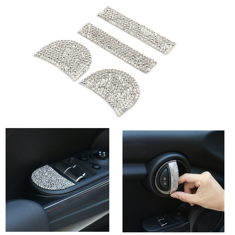4 or 5pcs/lot crystal car accessories For mini cooper 2014 f55 f56|accessories for|accessories accessories|accessories for car - title=
