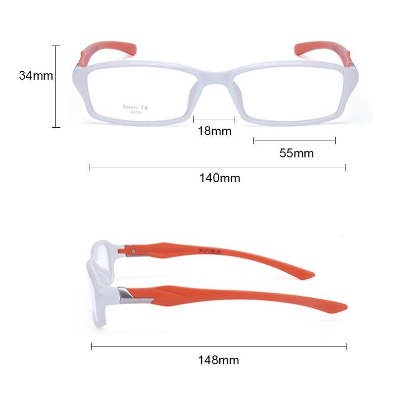 Image 5 - CUBOJUE sports Mens Glasses Frame TR90 eyeglass frames women ultra light prescription spectacles myopia diopter optical eyeglassMens Eyewear Frames   -