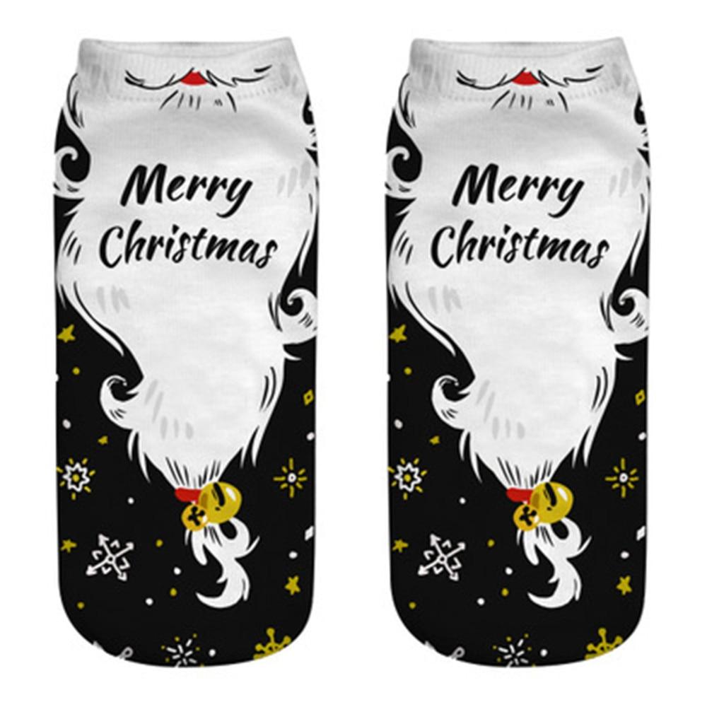 Cotton Women Men Sock Meias Slippers Short Print Christmas Warm Ladies Santa Lovely Comfortable Cute Female Calcetines Hot Sale