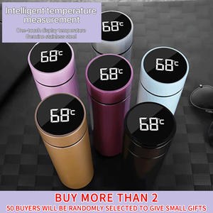 Thermos-Bottle-Cup Coffee-Mug-Thermos Vacuum-Flasks Temperature-Display Soup Intelligent