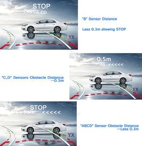 "Image 5 - Koorinwoo سيارة لاسلكية وقوف السيارات أجهزة الاستشعار Parktronic ديناميكية تتحرك خط وقوف السيارات كاميرا الرؤية الخلفية 4.3 ""رصد مرآة الجرس"