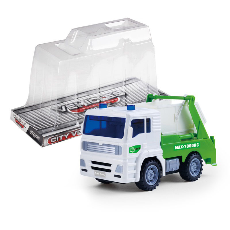 Large Size Inertia Children Model Car Toy Sanitation Garbage Truck Cart Clean Car Model Boy Toy
