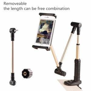 Image 2 - Vmonv składane długie ramię Tablet uchwyt stojak na IPad 4 14 cal 360 obrót silne leniwy łóżko uchwyt do tabletu dla IPhone X XS